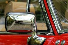 Auto, Oldtimer, Cabriolet, Rückspiegel